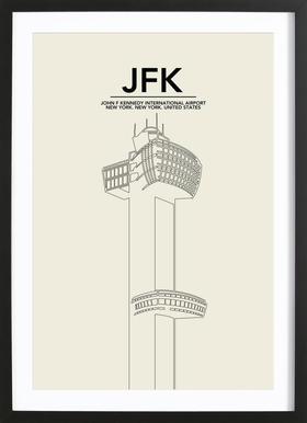 JFK New York Tower ingelijste print
