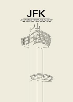 JFK New York Tower Canvas Print