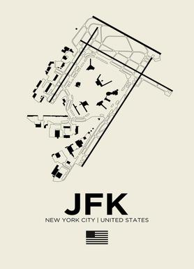 JFK Airport New York toile