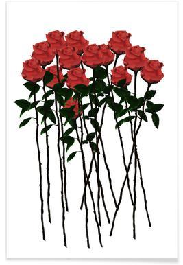 Rose Mikado Poster