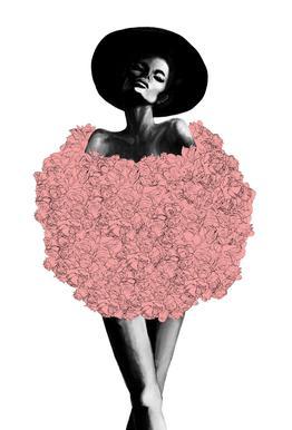 Rose Fur Aluminium Print