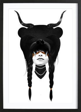 Bear Warrior Framed Print