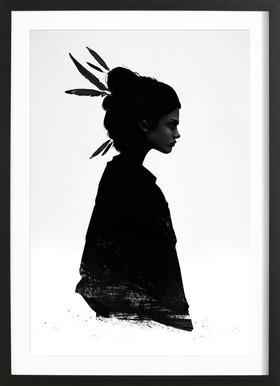 Never Never - Poster in Wooden Frame