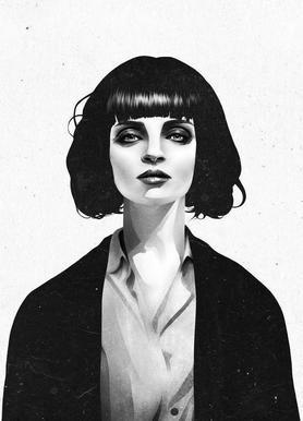 Mrs Mia Wallace Canvas Print