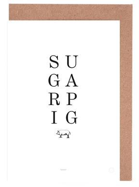 Sugar Pig Greeting Card Set