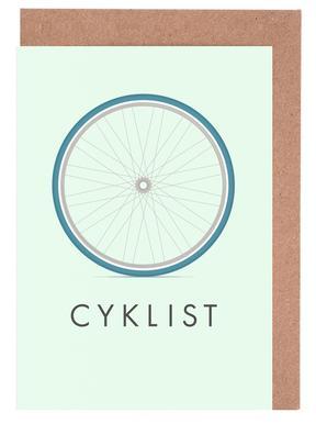 Cyklist Greeting Card Set