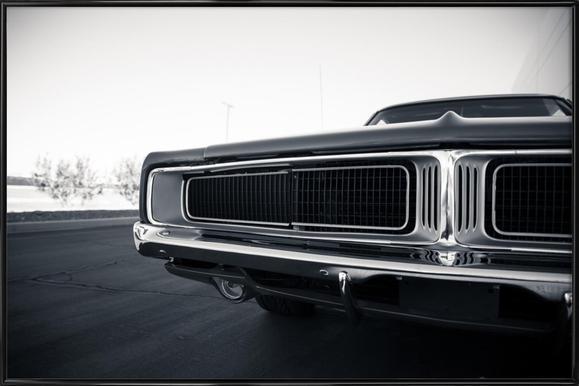 Dodge Charger - Poster im Kunststoffrahmen