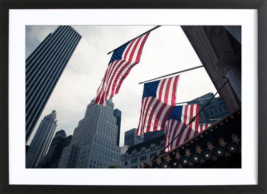 New York 2 -Bild mit Holzrahmen