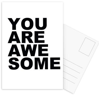 You Are Awesome -Postkartenset