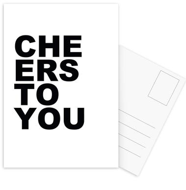 Cheers to You Postcard Set