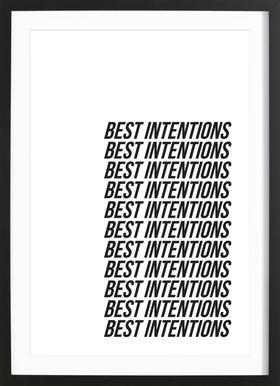best intentions -Bild mit Holzrahmen