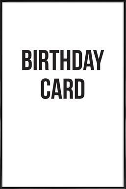 birthday card ingelijste poster