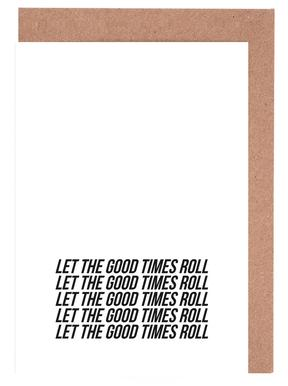 let the good times roll wenskaartenset