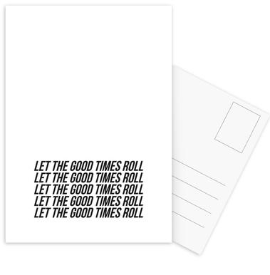 let the good times roll -Postkartenset