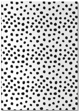 Dots Black And White notitieboekje