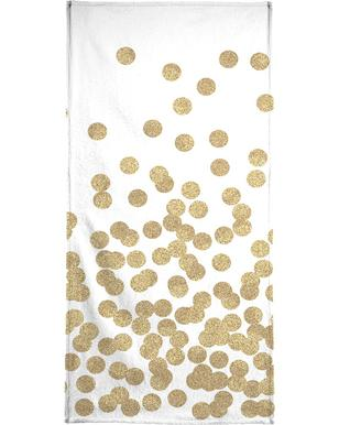 Gold Glitter Bath Towel