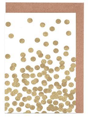 Gold Glitter -Grußkarten-Set