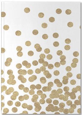 Gold Glitter -Notizheft