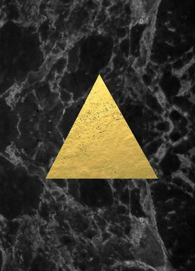 Black Gold Marble -Leinwandbild