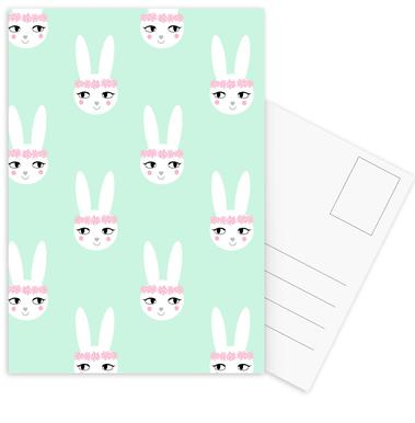 Easter Bunny Mint Postcard Set