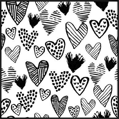Valentines B&W ingelijste poster