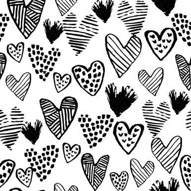 Valentines B&W -Leinwandbild