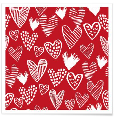Valentines Red poster