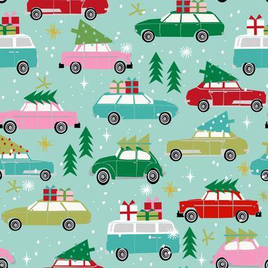 Christmas Cars -Leinwandbild