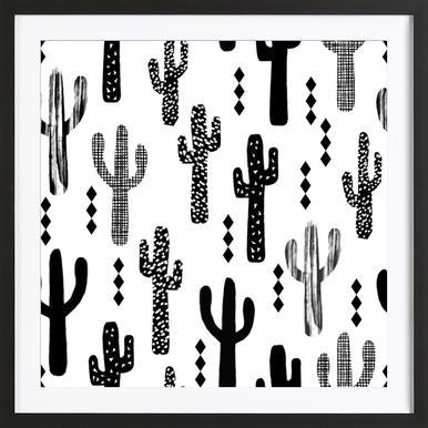 Cactus Black Framed Print
