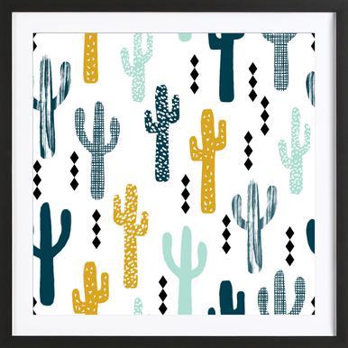 Cactus Mustard Framed Print