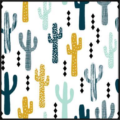 Cactus Mustard Framed Poster