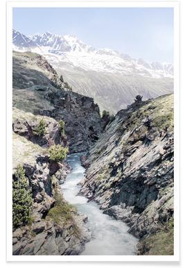 Alpenfluss -Poster