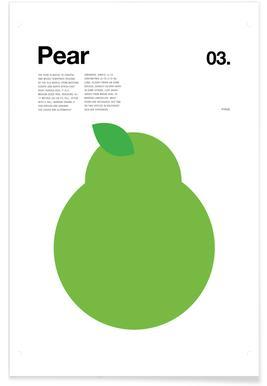 Minimalist Pear Poster