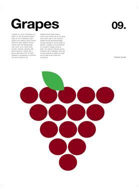 Red Grapes -Leinwandbild
