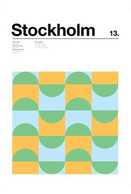 Stockholm -Acrylglasbild