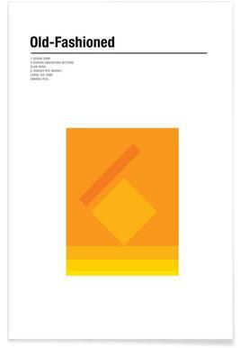 Old Fashioned - minimalistisch poster