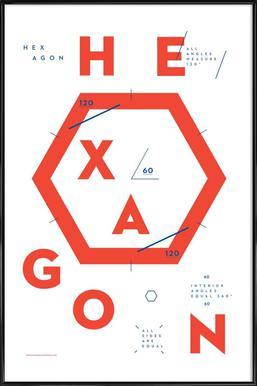 Hexagon Framed Poster