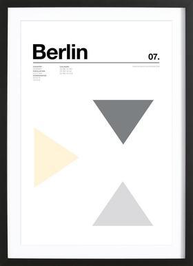 Berlin affiche sous cadre en bois