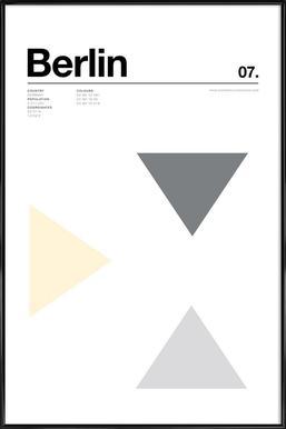 Berlin - Affiche sous cadre standard