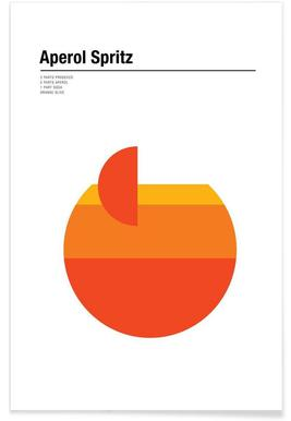 Minimalist Aperol Spritz Poster