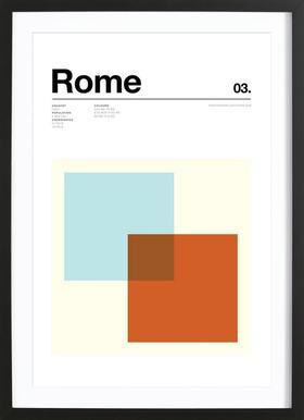 Rome affiche sous cadre en bois