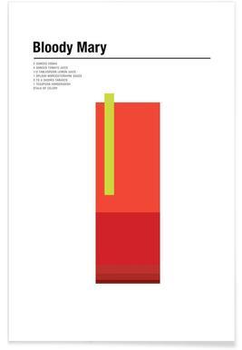 Bloody Mary - minimalistisch poster