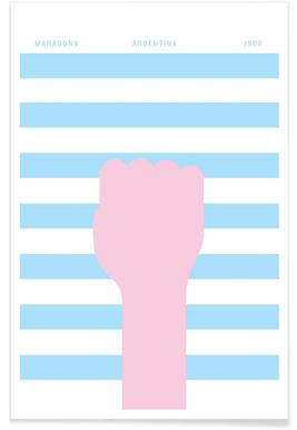 Maradona 1986 Poster