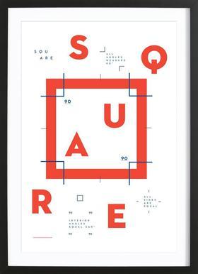 Square affiche sous cadre en bois