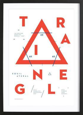 Triangle affiche sous cadre en bois