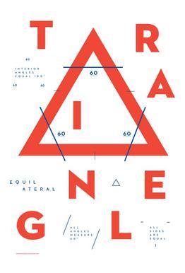 Triangle tableau en verre