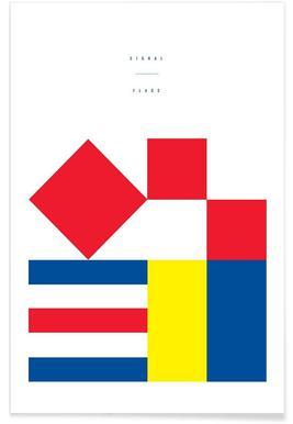 Signal Flags 1 - Premium Poster