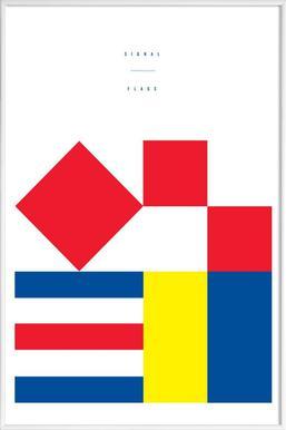 Signal Flags 1 - Poster im Kunststoffrahmen