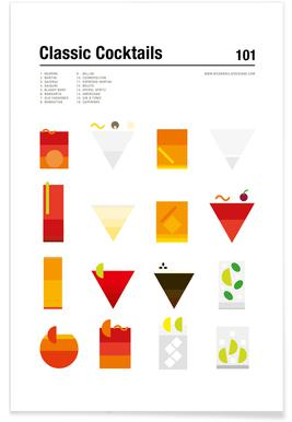 Minimalist Classic Cocktails Poster