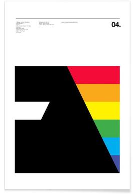 Pink Floyd Dark Side Of The Moon - Premium poster